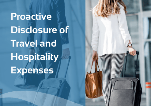 Proactive Disclosure of Travel and Hospitality Expenses
